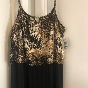 Style&Co leopard print jumpsuit size Medium&large